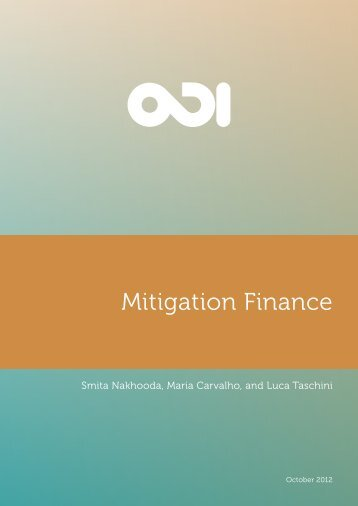 Mitigation finance - Overseas Development Institute