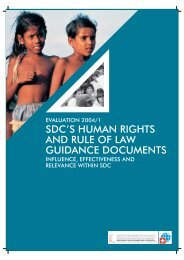 SDC's Human Rights and Rule of Law Guidance Documents ...