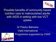 Valid International Malawi Research programmes