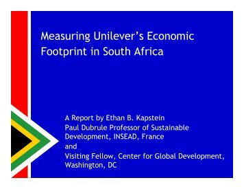 Measuring Unilever™s Economic Footprint in South Africa