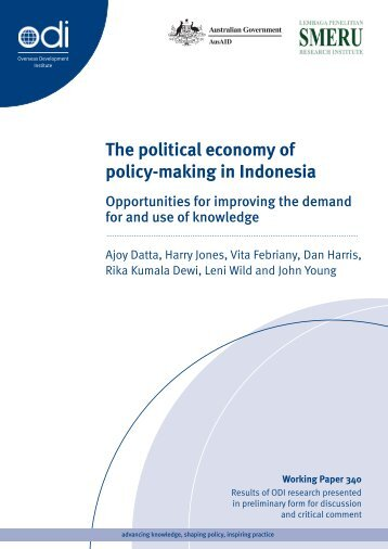 The political economy of policy-making in Indonesia - Overseas ...