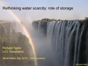 Rethinking water scarcity