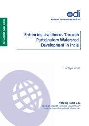 Watersheds and Rural Livelihoods in India - Overseas Development ...
