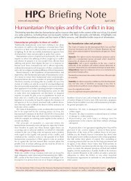 Humanitarian Principles and the Conflict in Iraq - Overseas ...
