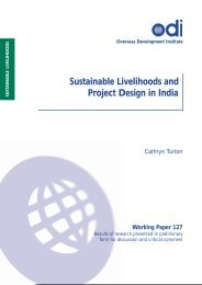 Sustainable livelihoods and project design in India - Overseas ...