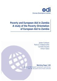 Poverty and European Aid in Zambia - Overseas Development Institute
