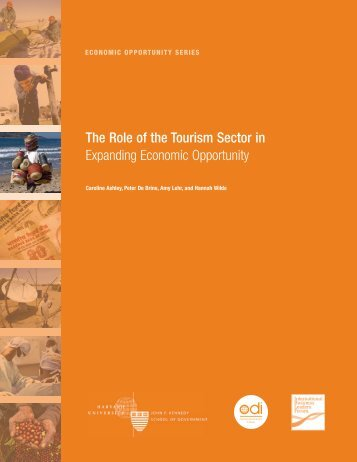 The Role of the Tourism Sector in Expanding Economic Opportunity