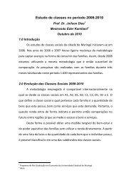 Estudo de classes no período 2008-2010 - Maringá