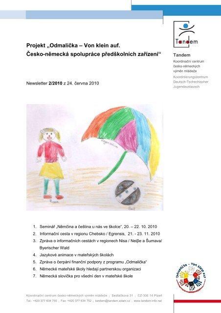 Newsletter v českém jazyce - Odmalička - Von klein auf