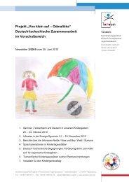 """Projekt """"Von klein auf – Odmalička"""" Deutsch-tschechische ..."""