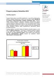 Zpráva o programu podpory