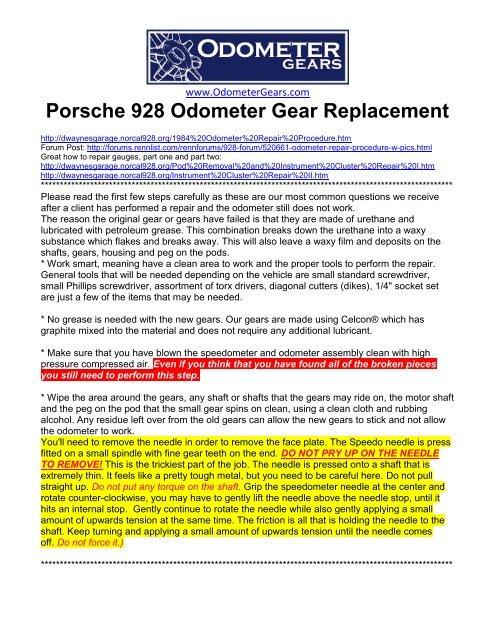 2 pcs 15 tooth odometer gear // speedo cog for Audi Volvo Mercedes etc Porsche