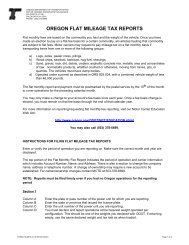 oregon flat mileage tax reports - Oregon Department of Transportation
