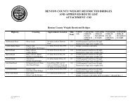 BENTON COUNTY WEIGHT RESTRICTED BRIDGES AND ...