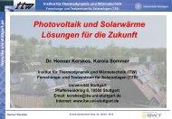 Dr. Henner Kerskes, Institut für Thermodynamik und Wärmetechnik an
