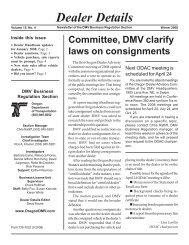 Dealer Details - Oregon Department of Transportation