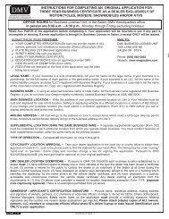 Form 366 - Oregon Department of Transportation - State of Oregon
