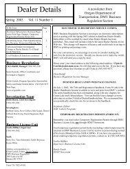 Publisher Spring 2003.pub - Oregon Department of Transportation