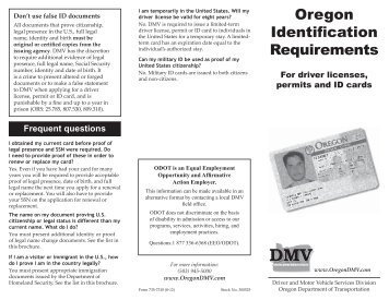 Your Oregon Drivers License Resource Center: Forms