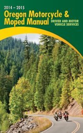 Oregon Motorcycle & Moped Manual 2012 – 2013