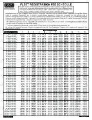 fleet registration fee schedule - Oregon Department of Transportation