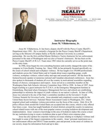 Instructor Biography Jesus M. Villahermosa, Jr.
