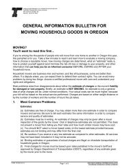 general information bulletin for moving household goods in oregon