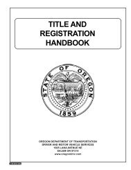 DMV Title and Registration Handbook - Oregon Department of ...