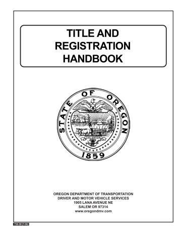 DMV Title and Registration Handbook - Oregon Department of ...