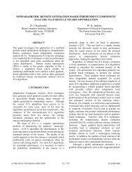 NONPARAMETRIC DENSITY ESTIMATION BASED ... - IEEE Xplore