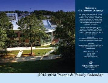 Parent Calendar 2012-13 - Old Dominion University