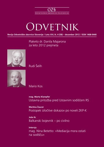 Številka 58 - Odvetniška Zbornica Slovenije