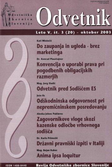Številka 20 - Odvetniška Zbornica Slovenije