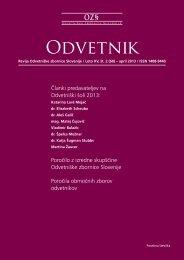 Revija Odvetnik, št. 60 - Odvetniška Zbornica Slovenije
