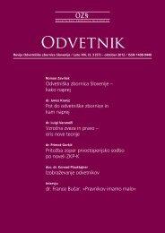 Številka 57 - Odvetniška Zbornica Slovenije