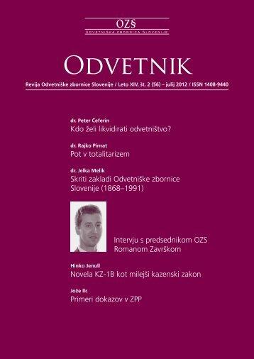 Številka 56 - Odvetniška Zbornica Slovenije