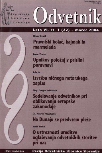 Številka 22 - Odvetniška Zbornica Slovenije