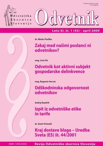 Številka 43 - Odvetniška Zbornica Slovenije