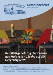 Gemeindebrief - Ev. Kirche Schwaikheim