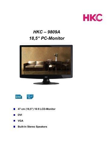 """HKC – 9809A 18,5"""" PC-Monitor - Odys"""