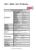 "HKC – 9809A 18,5"" PC-Monitor - Odys - Page 2"