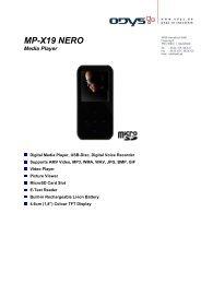 MP-X19 NERO Media Player - Odys