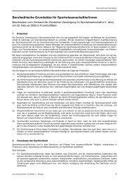 Berufsethische Grundsätze für Sportwissenschaftler/innen