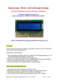 Spannungs-, Strom- und Leistungs-Anzeige für Netz