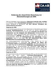 Änderung der steuerlichen Bewertung von Dienstwohnungen ab 2009