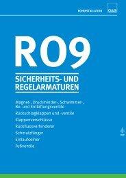ro9 sicherheits- und regelarmaturen