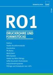 ro1 druckrohre und formstücke