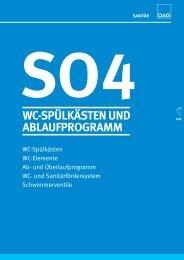 so4 wc-spülkästen und ablaufprogramm