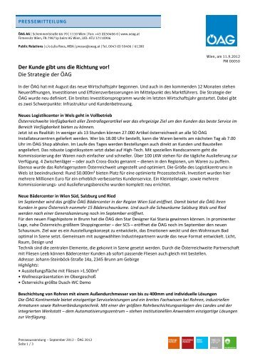 Download Pressebericht - ÖAG