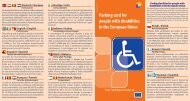 Parking card for people with disabilities in the European Union